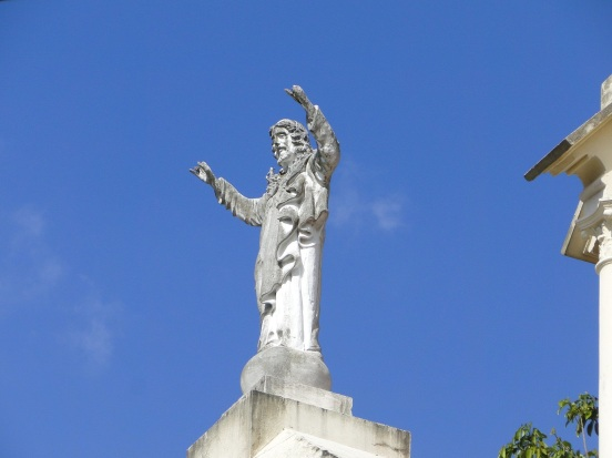 Jesus atop San Francisco de Asis church, Panama City