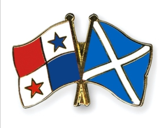 Panama and Scotland flag entwined